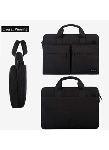 Mcstorey Cartinoe MacBook Laptop Notebok Evrak Çanta Kılıf Koruyucu 13.3 Su Geçirmez Omuz Askılı Suit Siyah